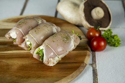 Danish Feta & English Spinach roll-up