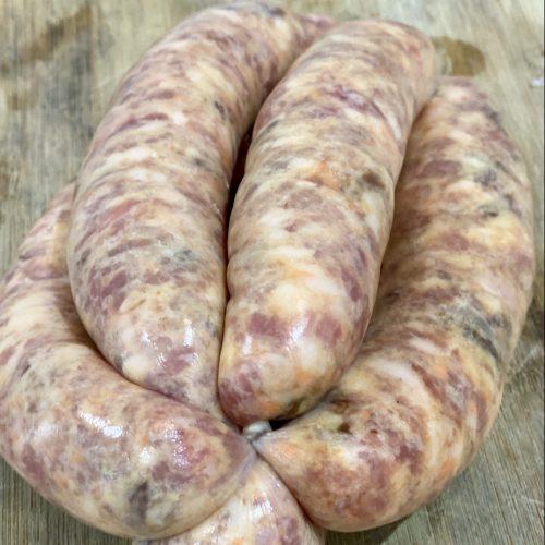 Irish Pork, Sweet Potato Caramelised Onion Sausages