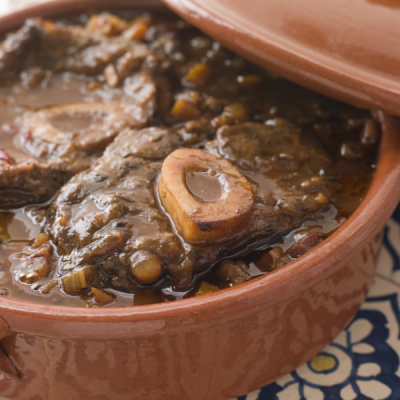 osso buco - cooked