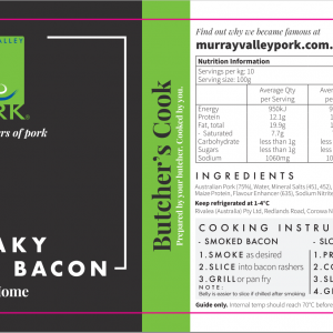 Streaky Belly Bacon – Cook at home – Limited Edition